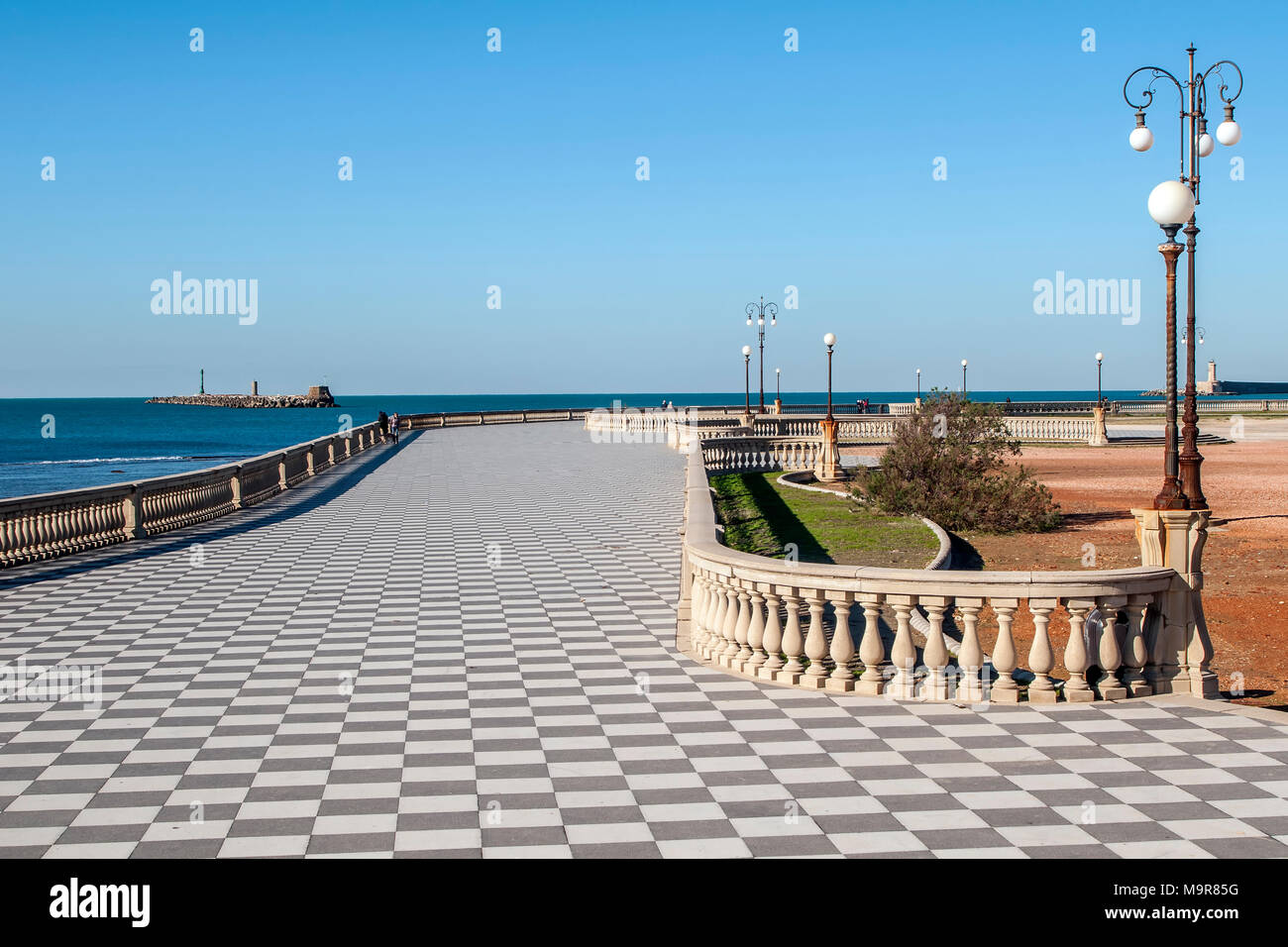 Beautiful view of the famous Terrazza Mascagni on the seafront of ...