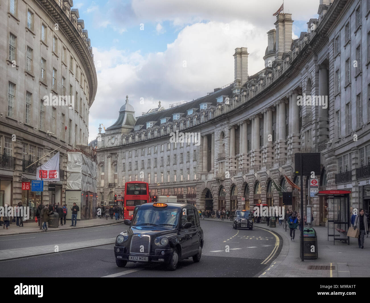 REGENT STREET, LONDON:  View along the Street - Stock Image