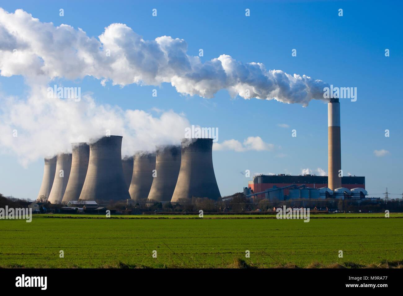 Cottam Power Station Trent Valley Nottinghamshire England - Stock Image