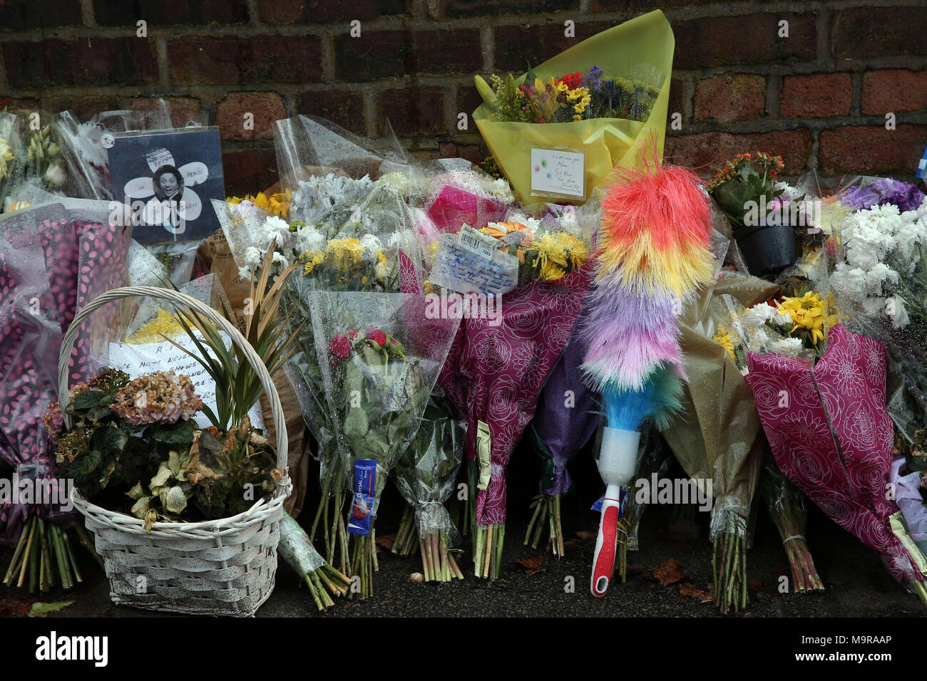 Floral Tributes Outside The Home Of Sir Ken Dodd In Knotty Ash