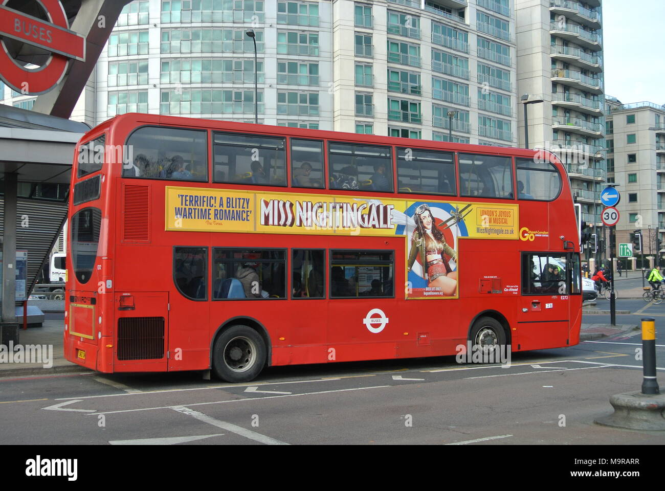London Bus, the New Routemaster, in Vauxhall Cross, London, England, UK - Stock Image