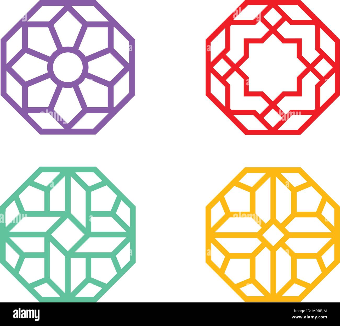 Octagon Stock Vector Images - Alamy