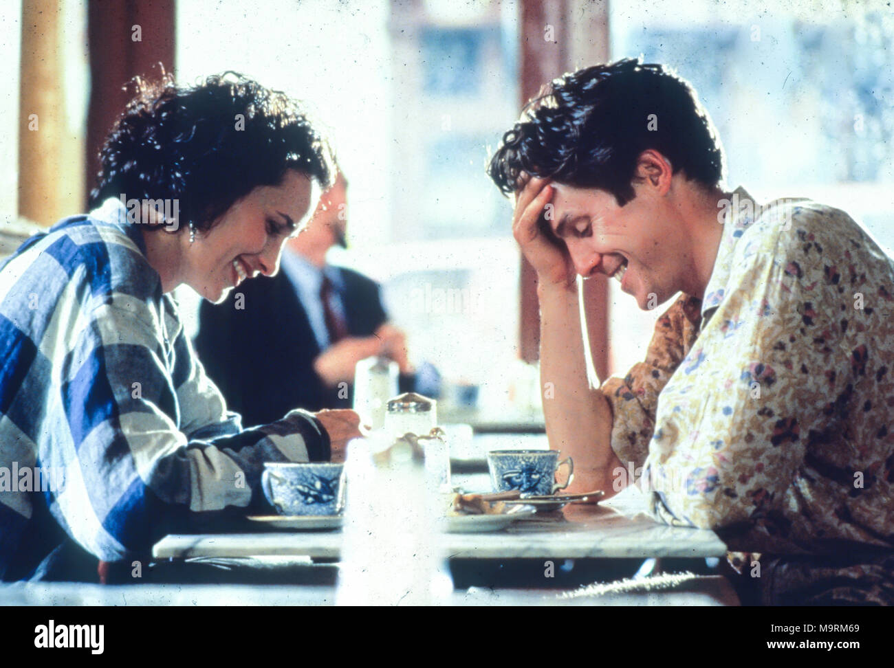four wedding and a funeral, 1994, andie macdowell, hugh grant - Stock Image