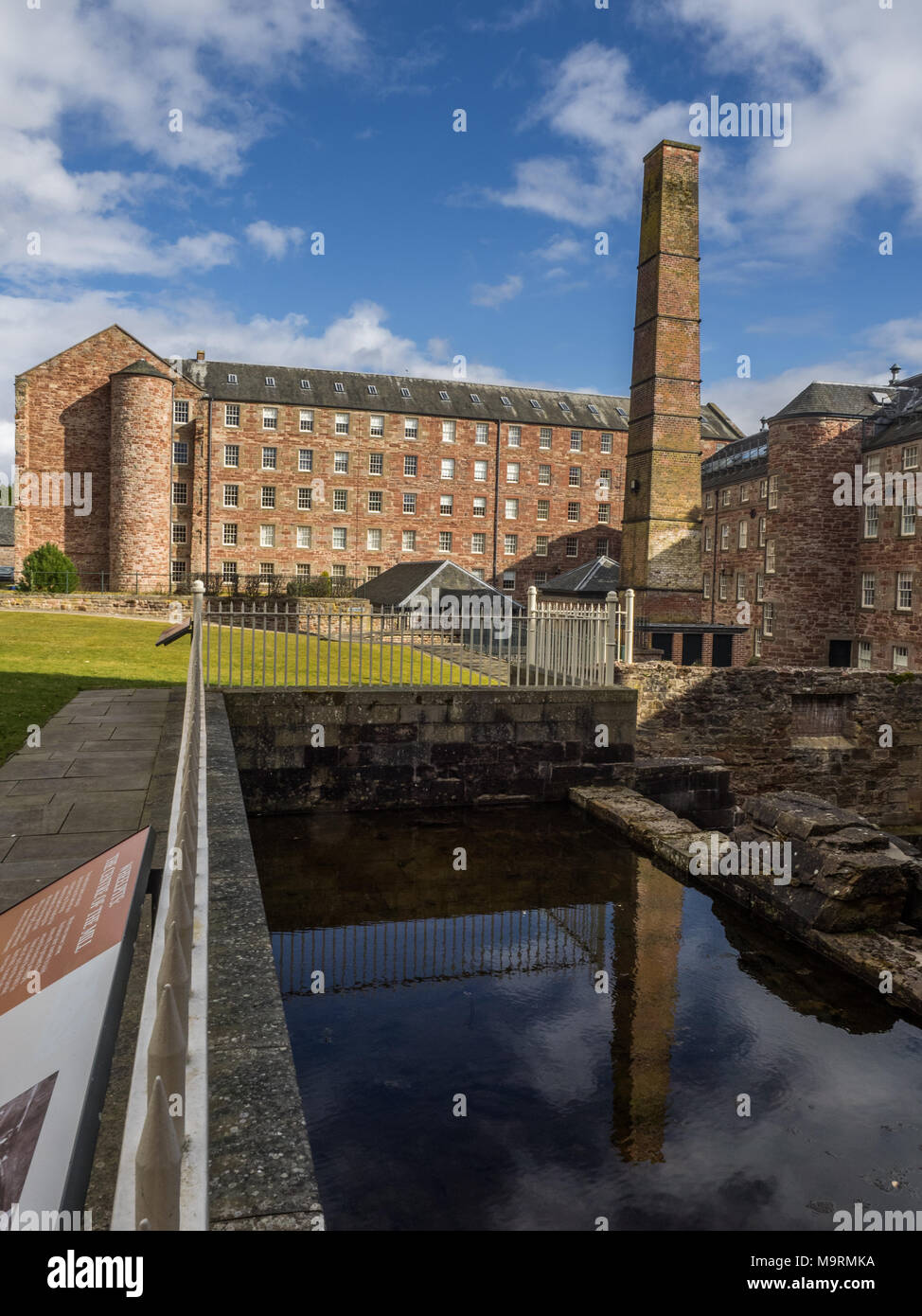 Stanley Mills Perthshire Scotland Historic water powered cotton mill on the banks of the River Tay - Stock Image