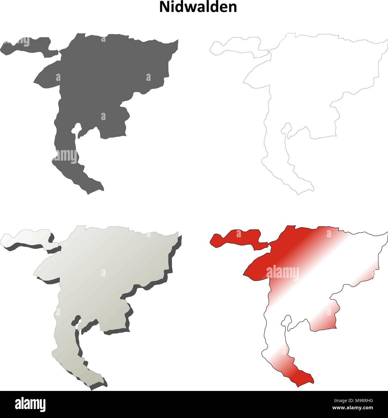 Nidwalden Map Stock Photos Nidwalden Map Stock Images Alamy