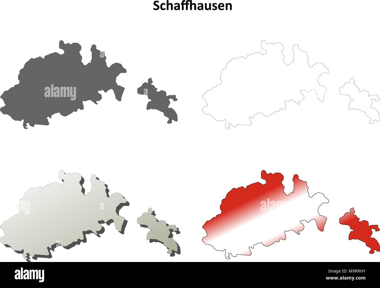Schaffhausen Map Vector Stock Photos Schaffhausen Map Vector Stock
