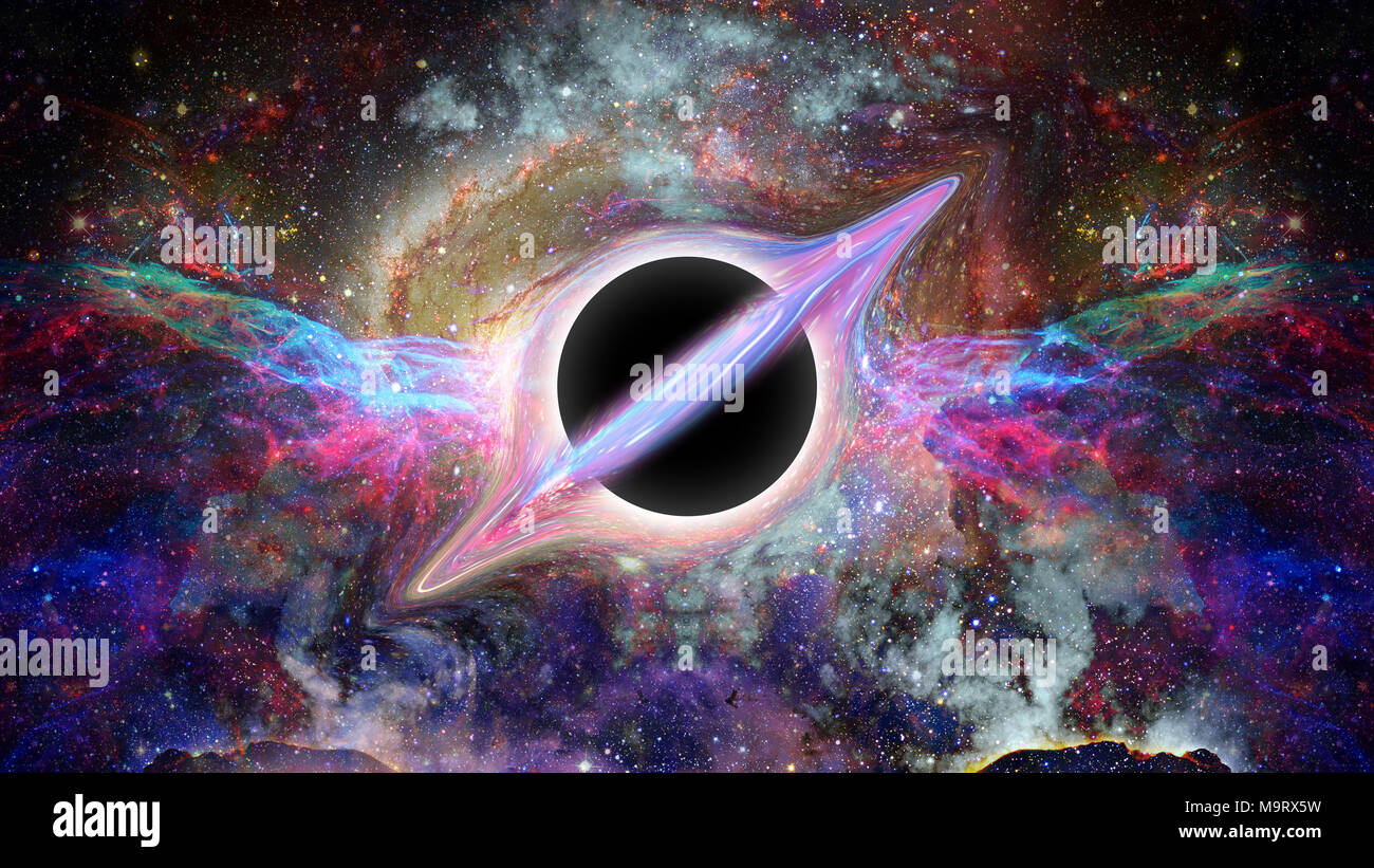 Black Hole Science Fiction Wallpaper Elements Of This Image Furnished By Nasa Stock Photo Alamy