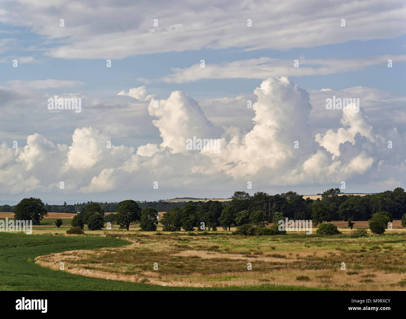Cumulonimbus Clouds beginning to form over the Angus Countryside at Colliston, near Arbroath, Scotland. - Stock Image