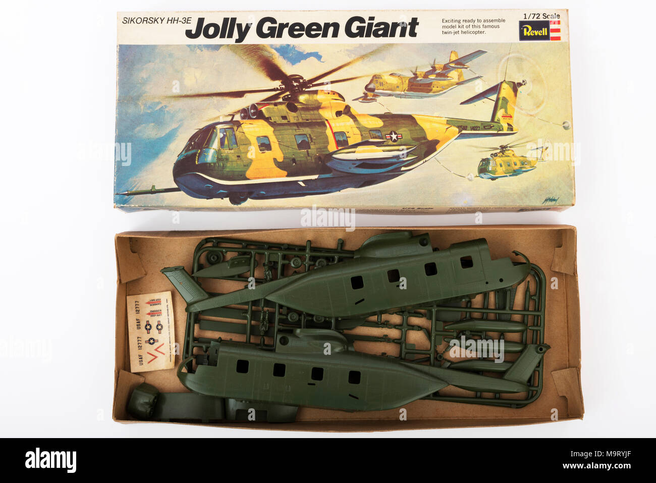 Revell Sikorsky HH-3E helicopter - Stock Image