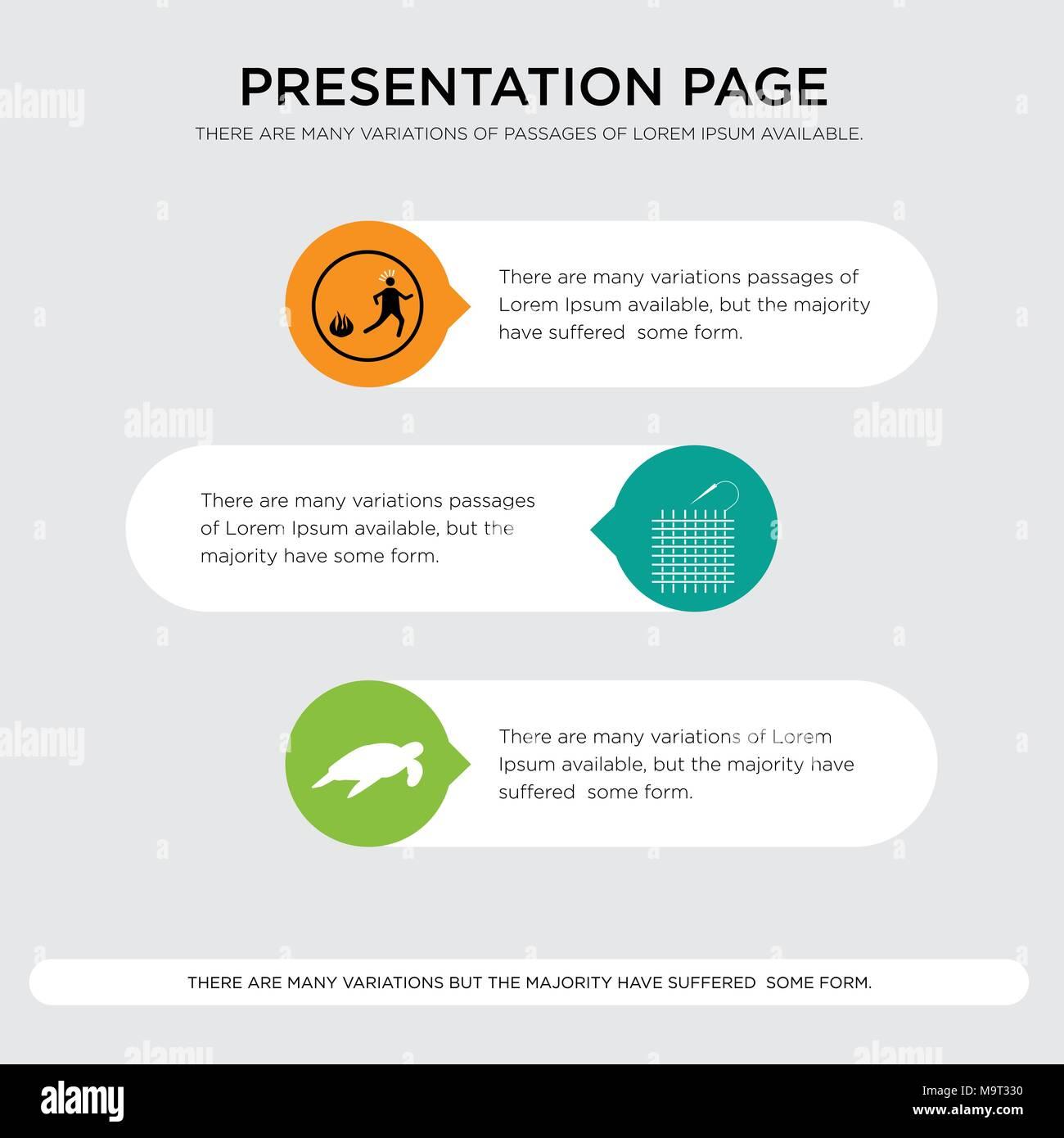sea turtle weaving panic presentation design template in orange