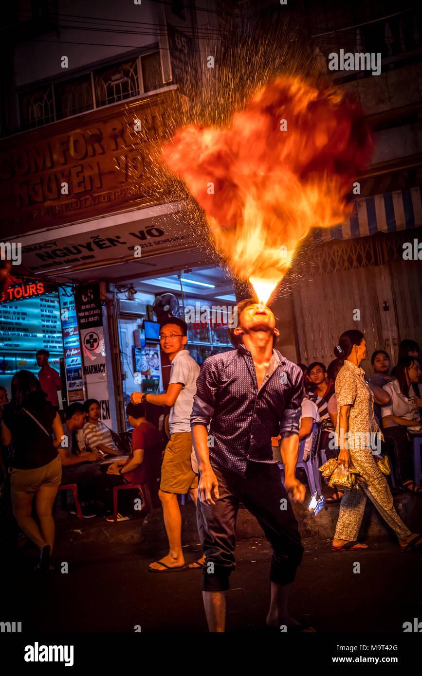 Asien, Südostasien, Südvietnam, Vietnam, Saigon, Ho Chi Minh Stadt - Stock Image