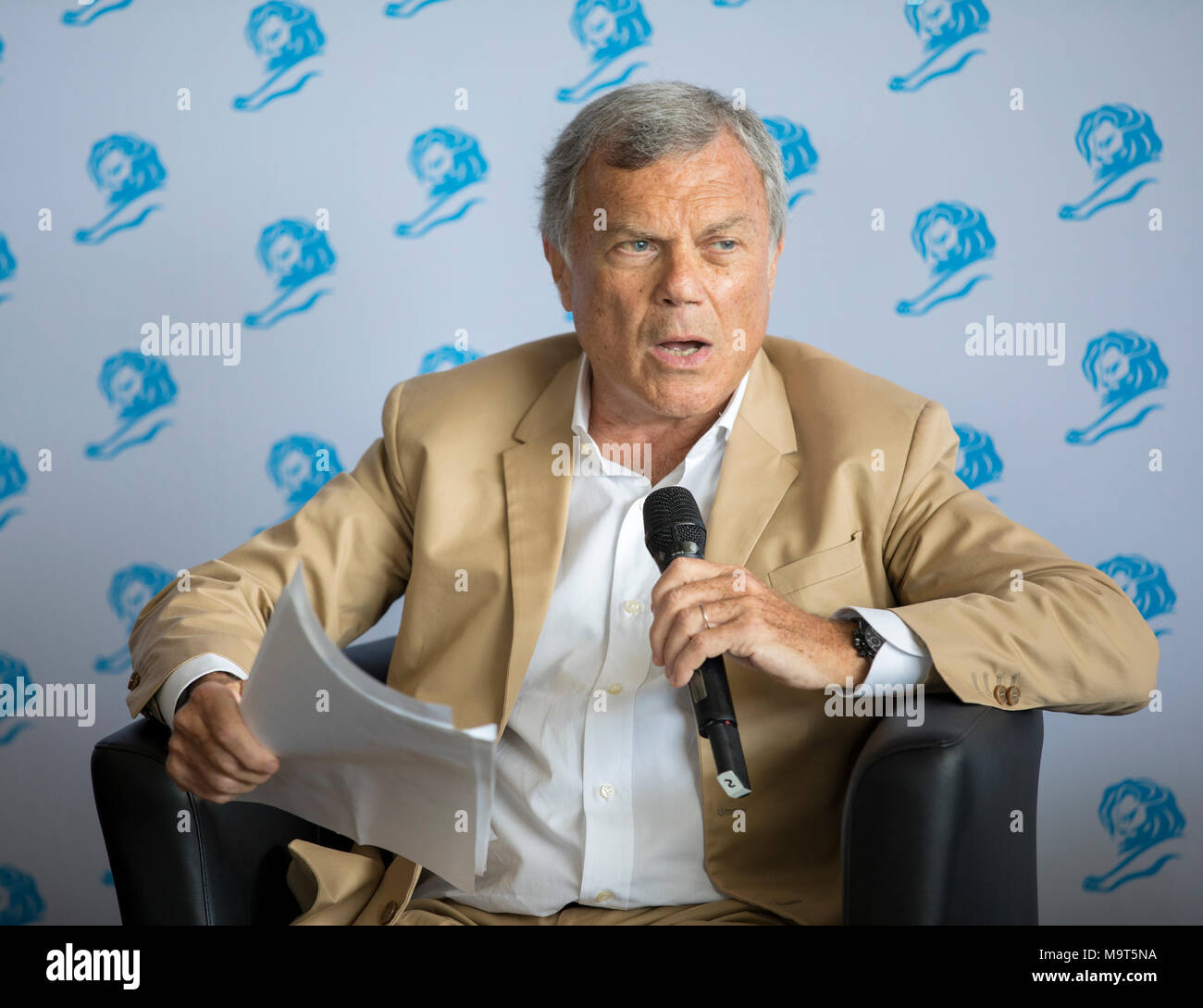 Sir Martin Sorrell, Chairman and Chief Executive Officer of advertising company WPP, attends Cannes Lions Festival, Cannes France June 23 2017 © ifnm Stock Photo