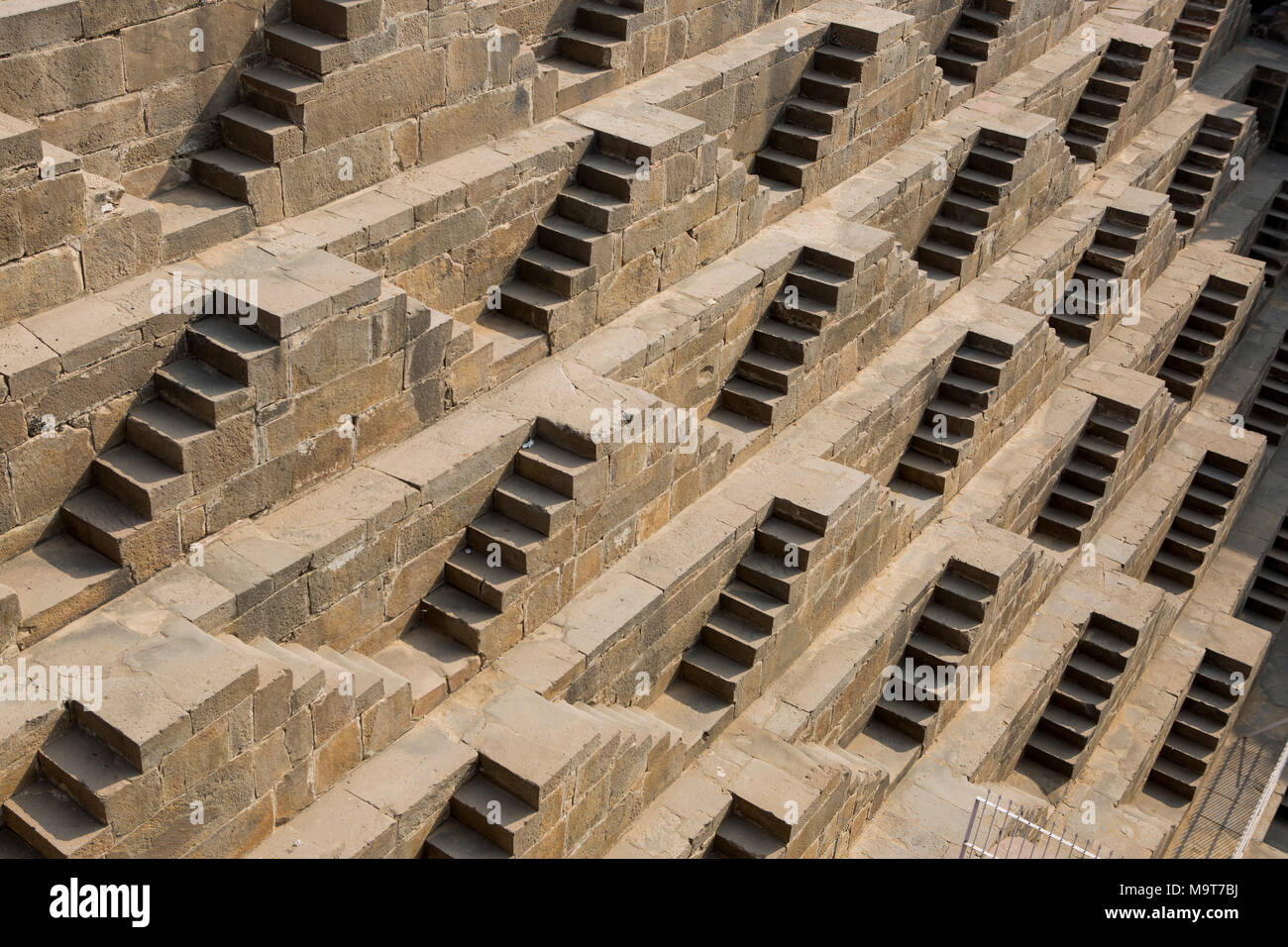 Chand Baori stepwell Dausa Stock Photo