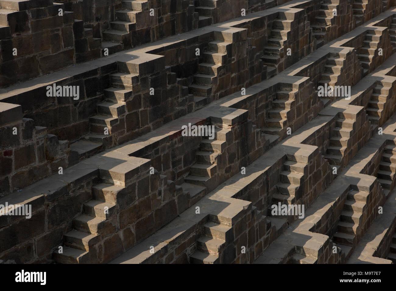 Chand Baori stepwell Dausa Stock Photo