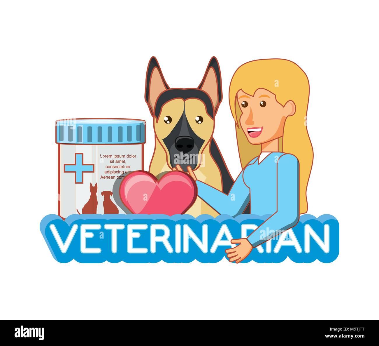 medicine for animals in veterinary vector illustration design - Stock Image