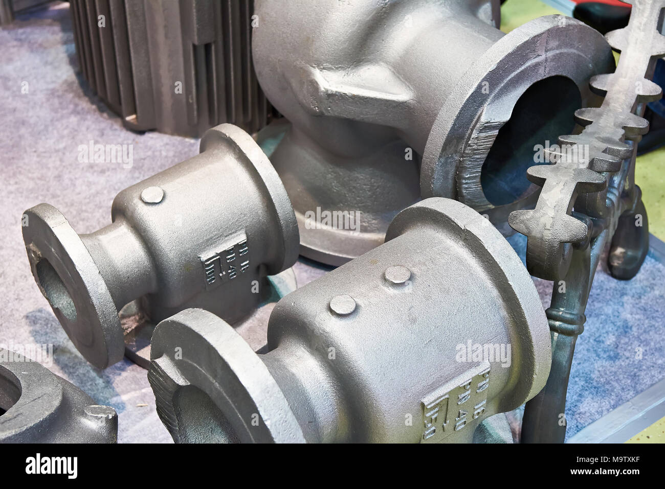 Cast iron alloy preform for plumbing taps and valves Stock Photo ...