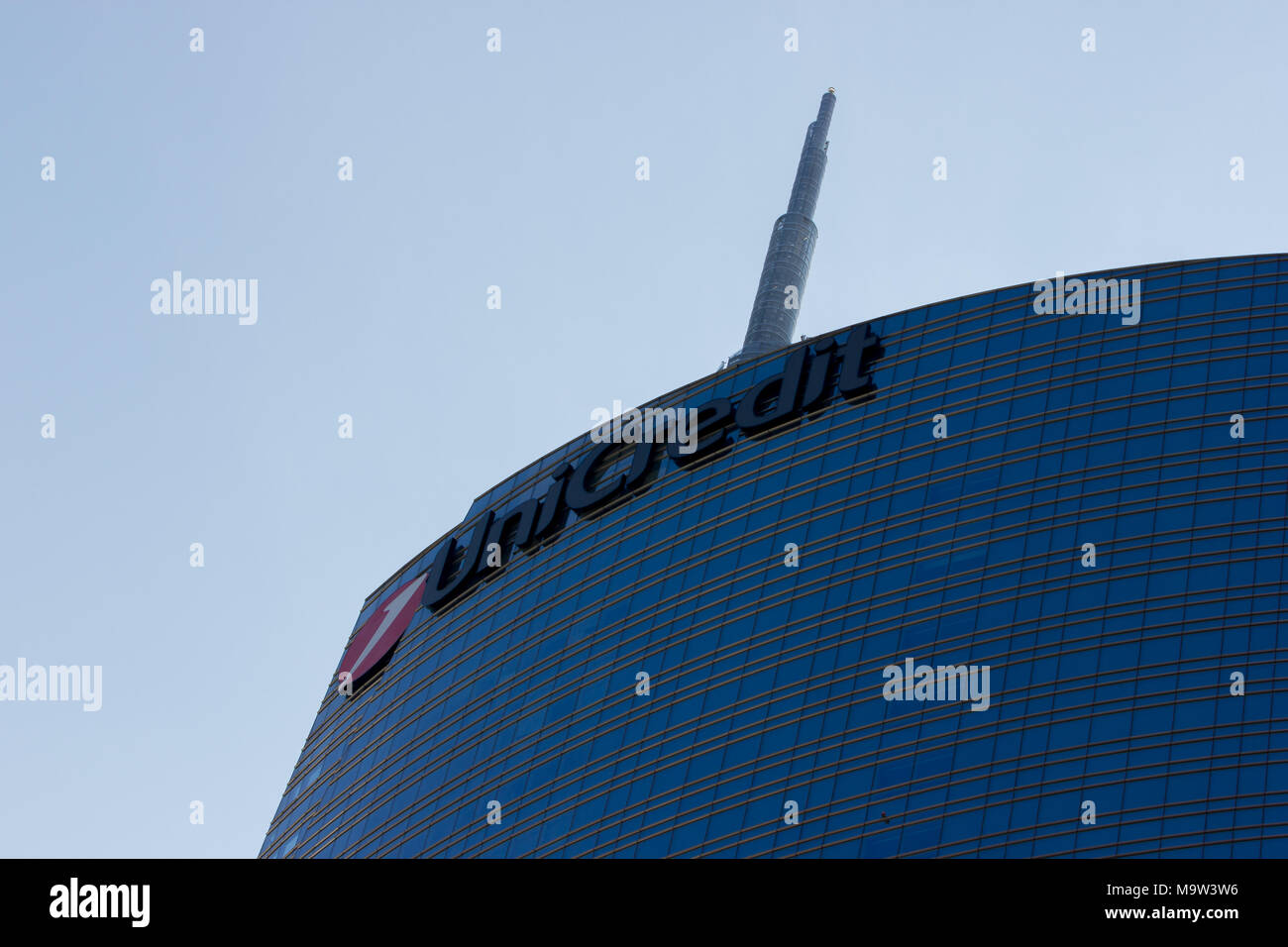 The Unicredit skyscraper Tower, detail, Milan, Italy Stock Photo