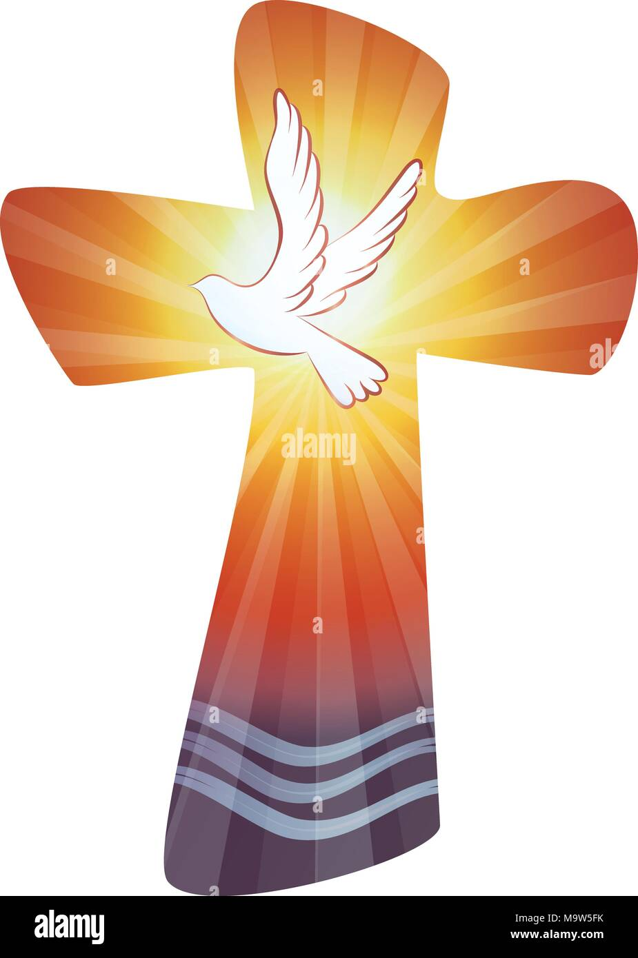 Baptism Of Christ Stock Vector Images Alamy
