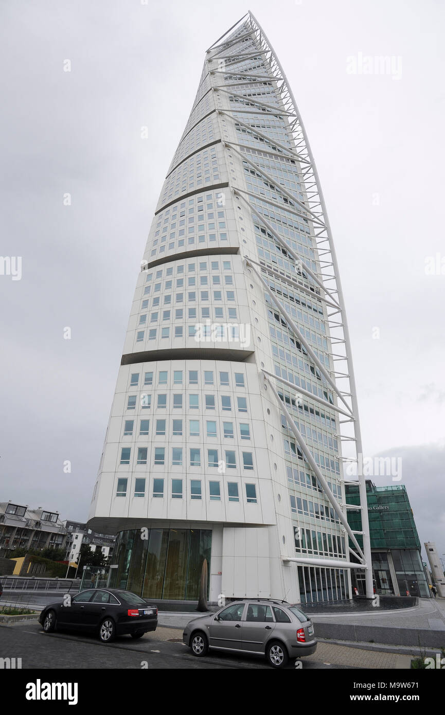 Neo Futurist Residential Skyscraper 190 Meter HSB Turning Torso In Malmo,  Scania, Sweden Nice Design