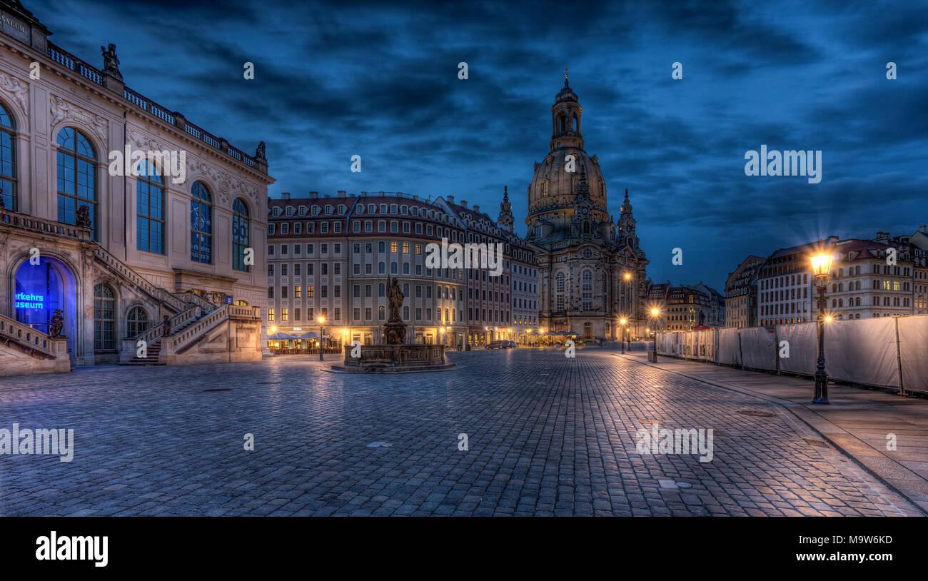 Dresden Frauenkirche - Stock Image