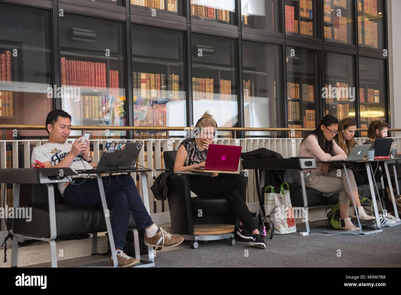 London. The British Library. United Kingdom. - Stock Image