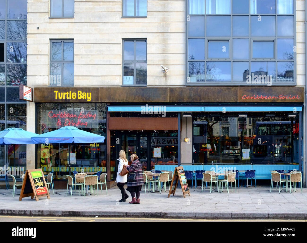 Turtle Bay Restaurant in Bristol City Center - Stock Image