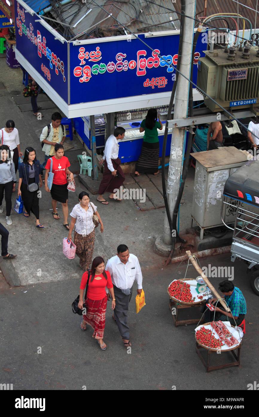 Myanmar Street Shop Stock Photos & Myanmar Street Shop Stock Images