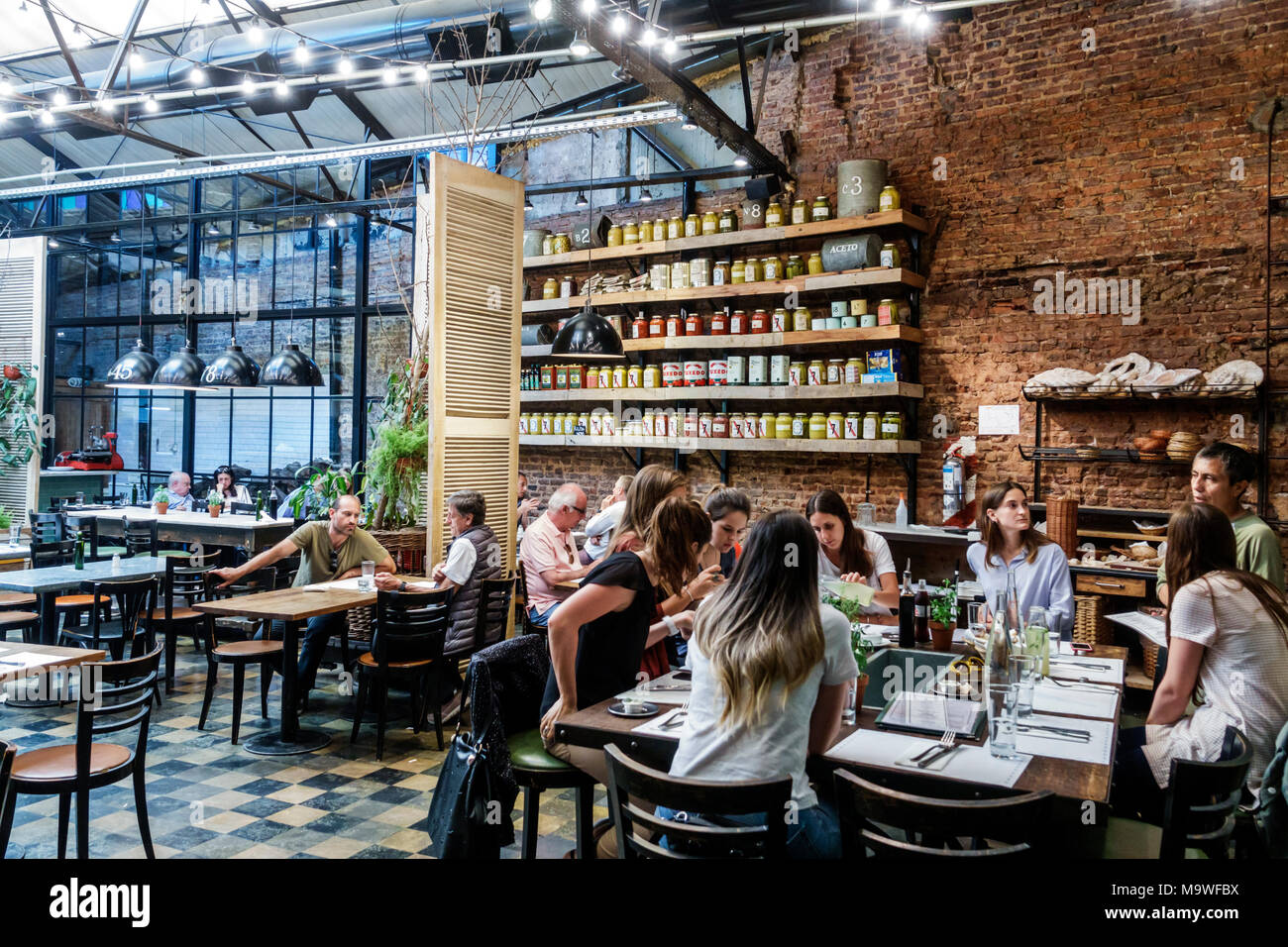 Argentina Buenos Aires The Dandy Libertador Bar Grill Restaurant Restaurants Food Dine Dining Eating Out Casual Cafe Cafes Bistro Bistros Inter Stock Photo Alamy