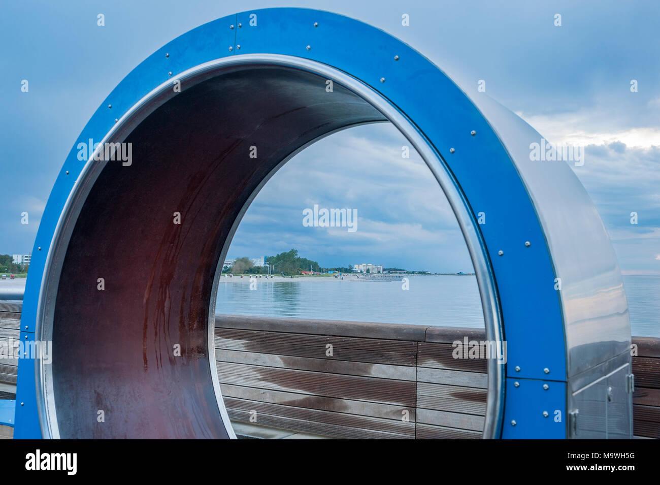 Pier, Heiligenhafen, Baltic Sea, Schleswig-Holstein, Germany, Europe Stock Photo