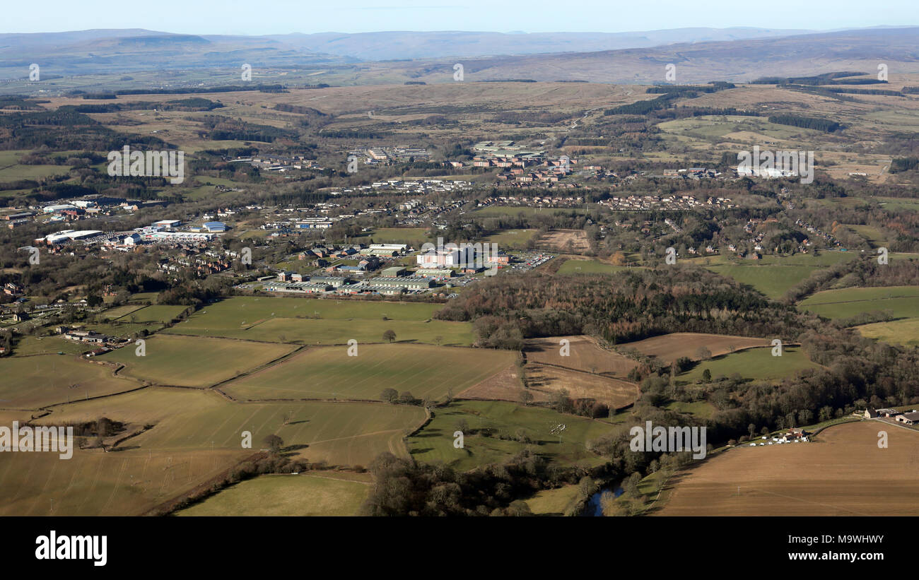 aerial view of Catterick Garrison, North Yorkshire - Stock Image