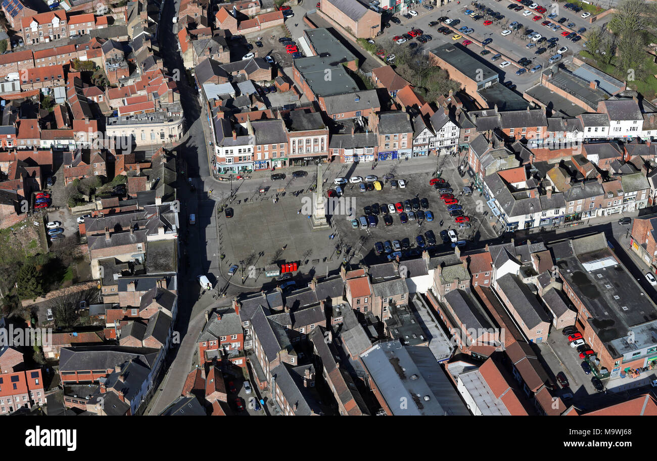 aerial view of Ripon, North Yorkshire Stock Photo