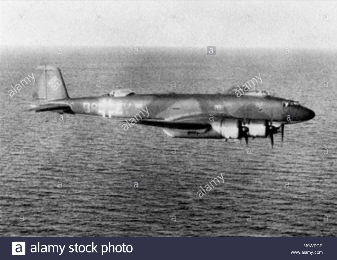 . A German Focke-Wulf Fw 200C-2 Condor long range reconnaissance plane from I./KG 40 (probably F8+EV) in flight. - Stock Image