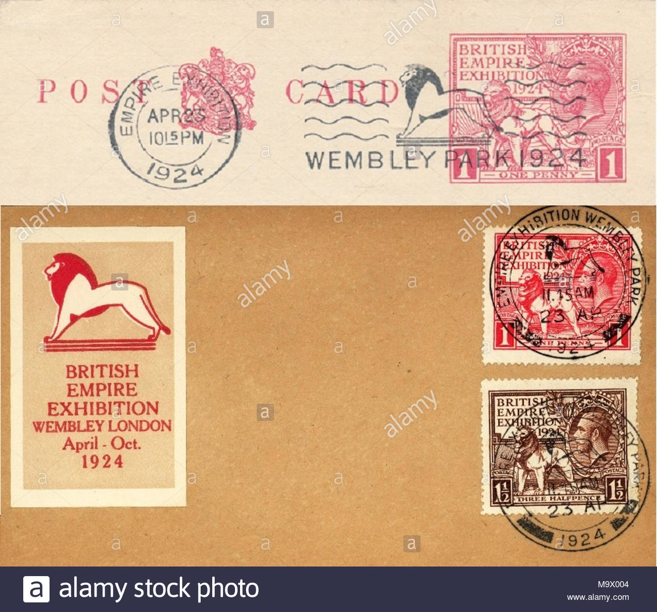 British Empire Postmark Stock Photos British Empire Postmark Stock