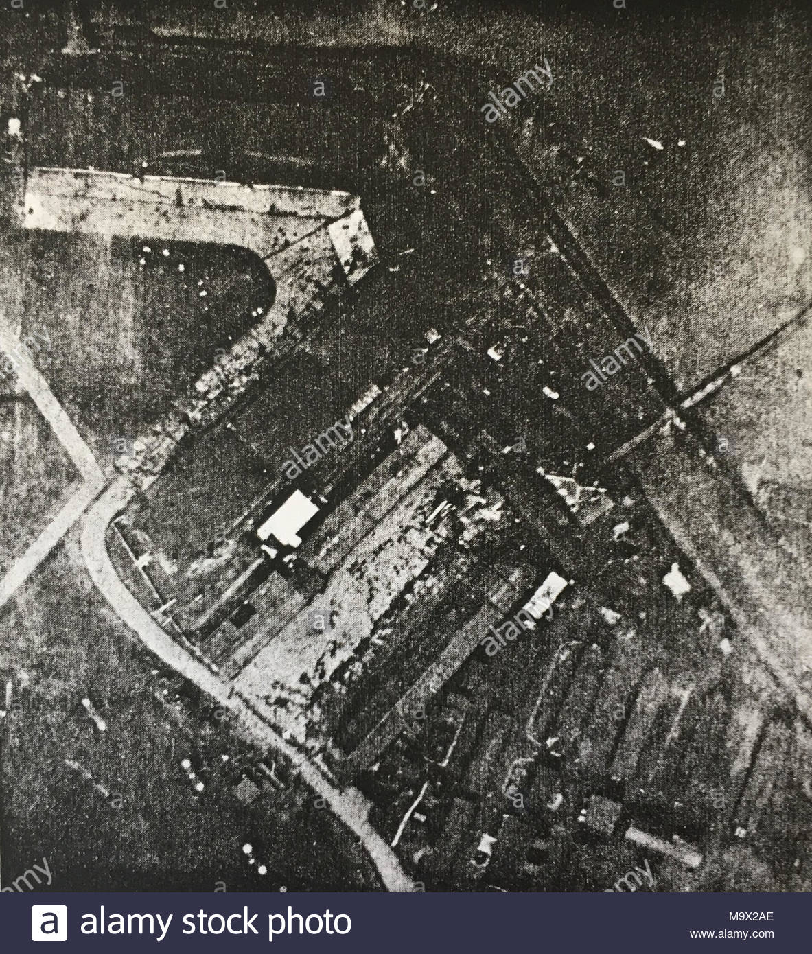 RFC Joyce Green Aerodrome Main Buildings Vertical Aerial Photograph Taken On 28th Feb 1918 By
