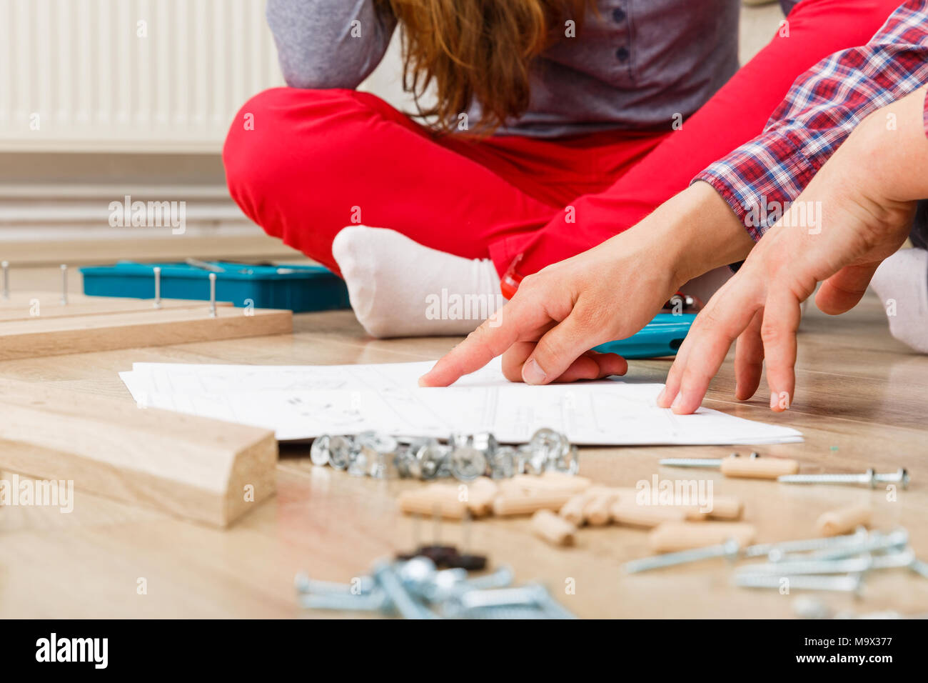 Home improvement, do it yourself activity in new home - Stock Image