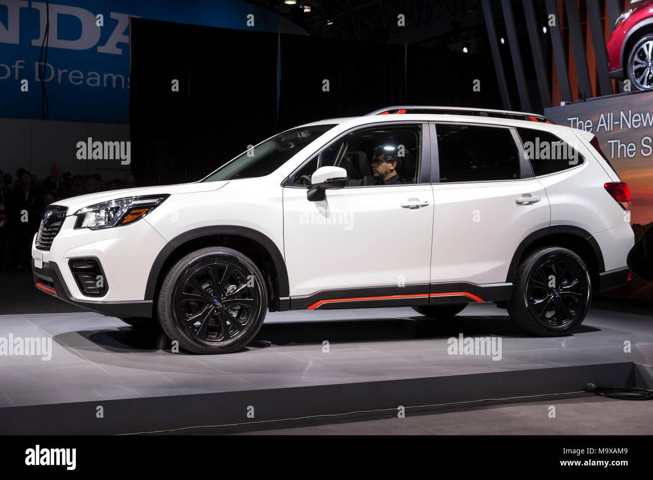 New York Usa 28th Mar 2018 Subaru Forester Suv 2019 On Display
