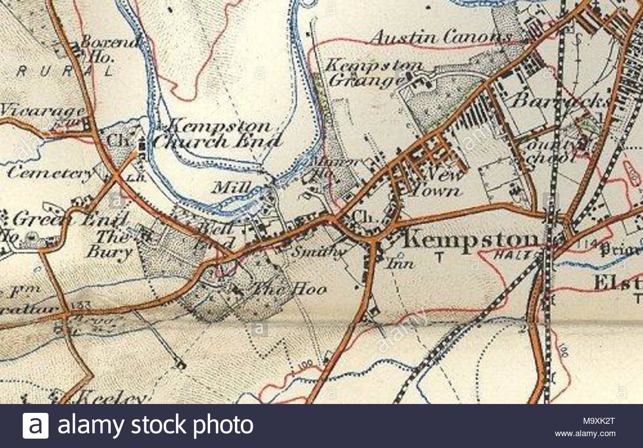 Bedford Map Stock Photos Bedford Map Stock Images Alamy