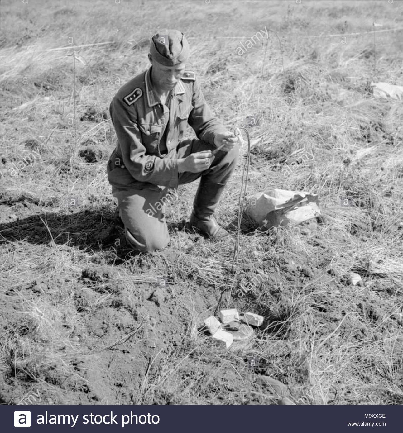 Blown A Fuse Stock Photos Images Alamy Carrier Blowing 3 Amp Norway After Liberation 1945 German Prisoner Engaged In Clearing Minefield Near Stavanger Fixes