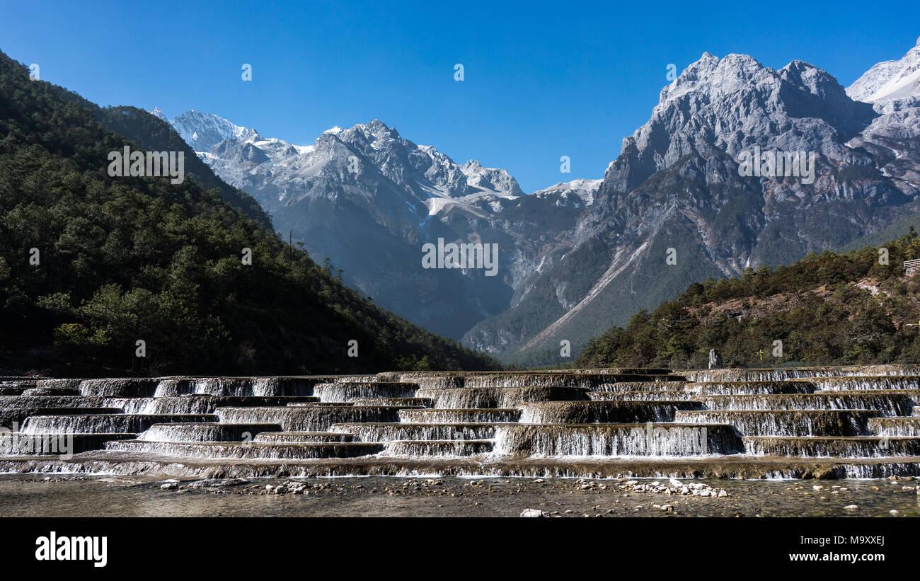 Jade Dragon Snow Mountain,Mount Yulong or Yulong Snow Mountain at Lijiang,Yunnan province,China. - Stock Image