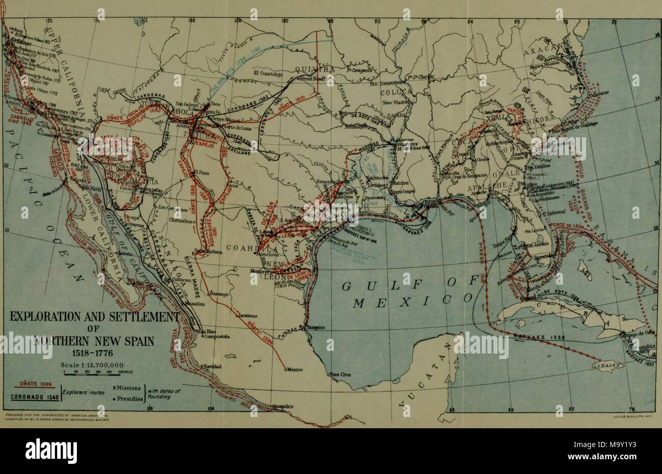Color illustration depicting a map of the