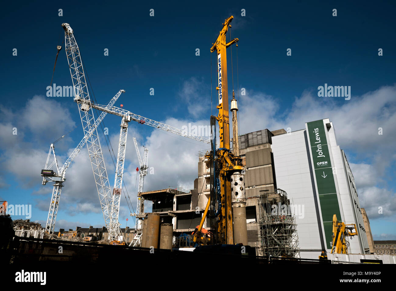The redevelopment of the St James Centre at the East End of Princes Street, Edinburgh, Scotland, UK. - Stock Image