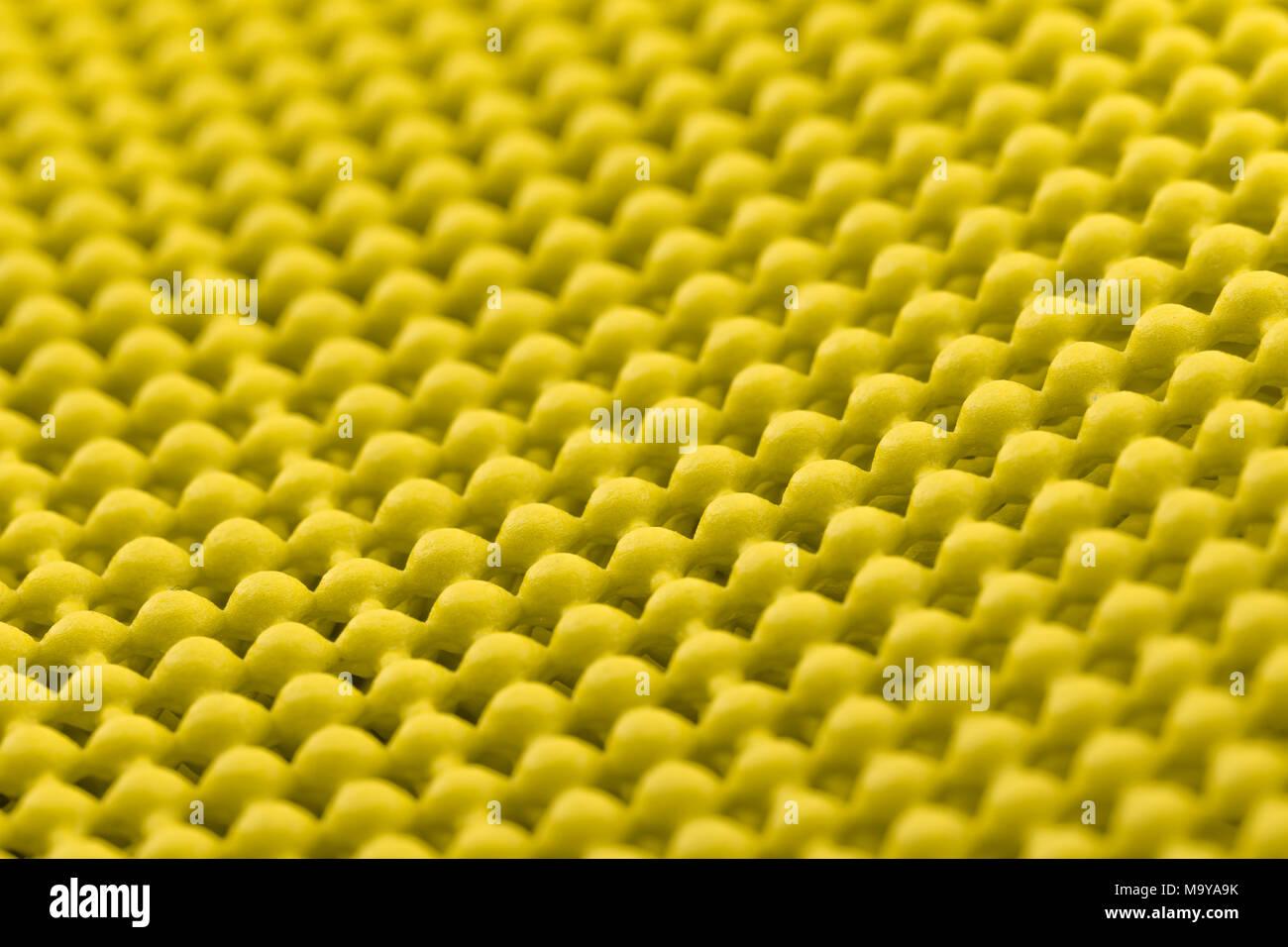 Close up detail of yellow skid mat Stock Photo