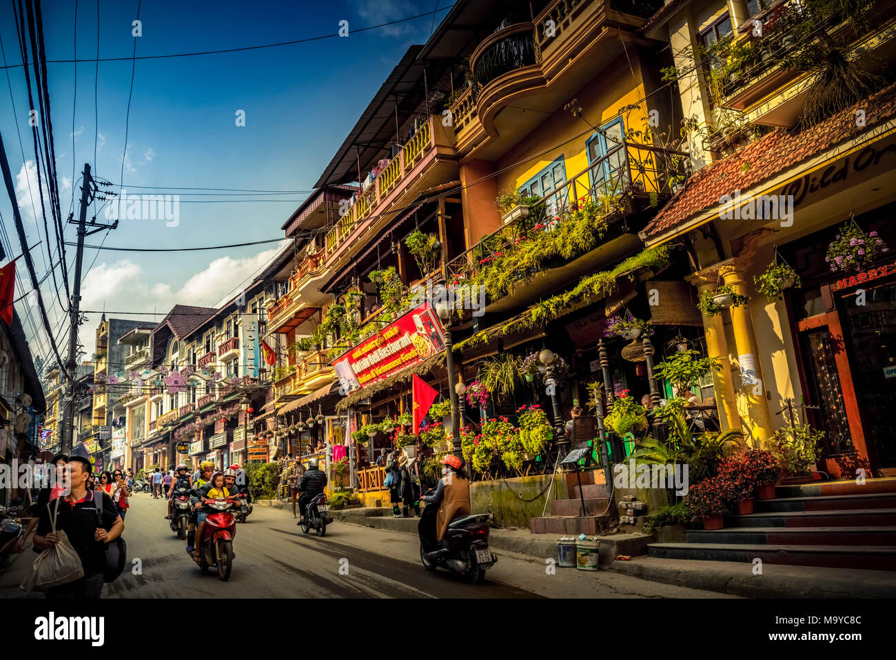 Asien, Südostasien, Nordvietnam, Vietnam, Sapa, Berge, Bergwelt - Stock Image
