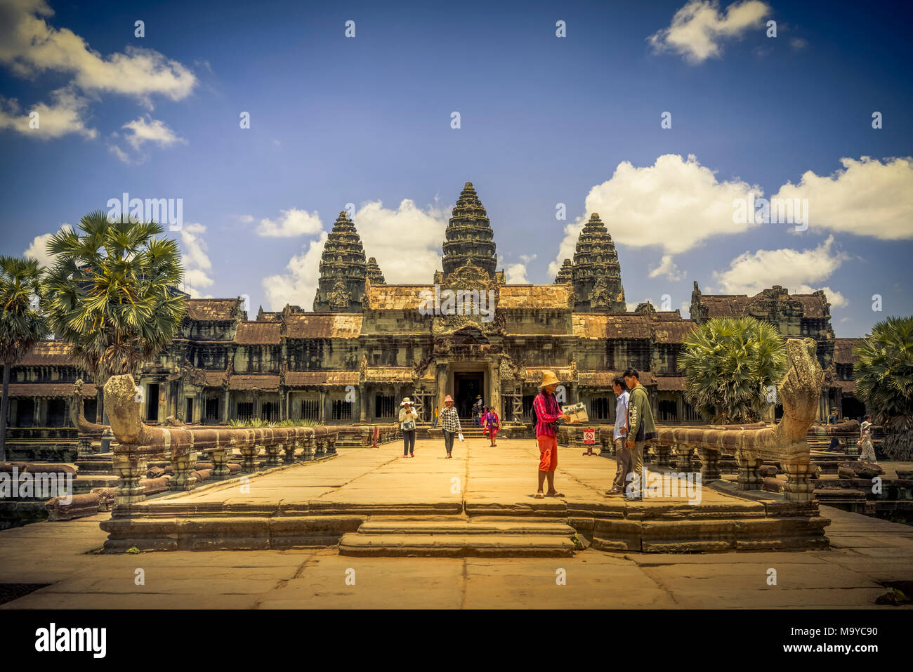 Asien, Kambodscha, Angkor Wat - Stock Image