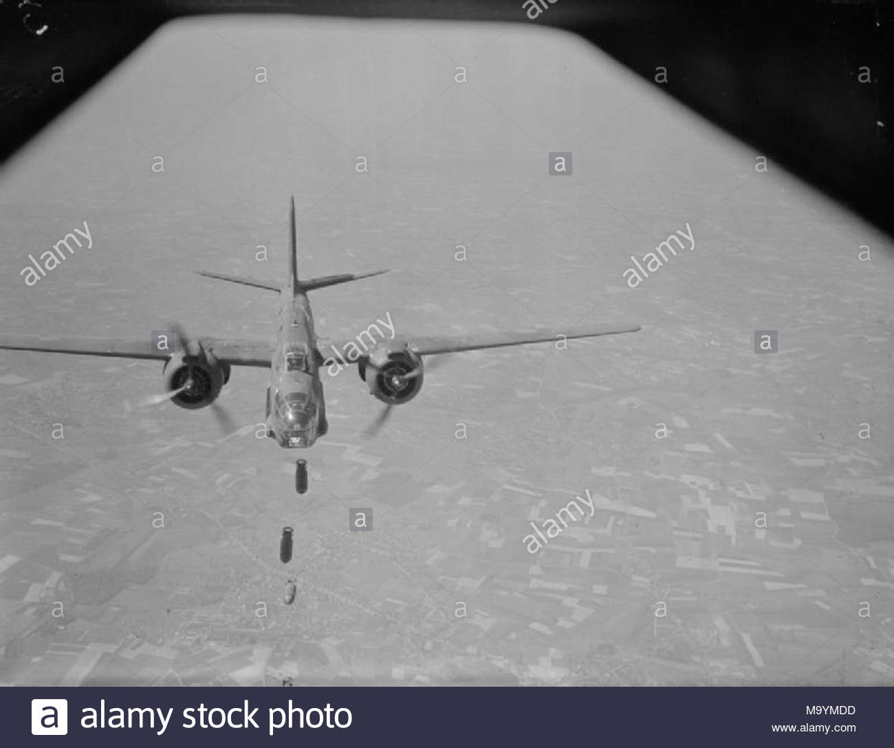 Royal Air Force 2nd Tactical 1943 1945 Douglas Boston Mark III C For Charlie Of No 88 Squadron RAF Drops Its Bombs Over The Target During
