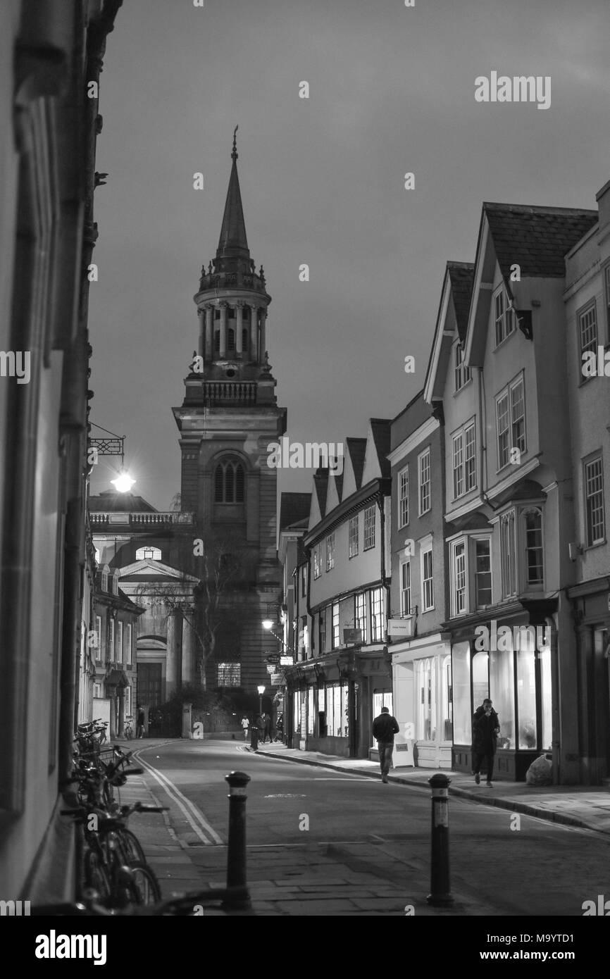 Turn Street at night, Oxford - Stock Image