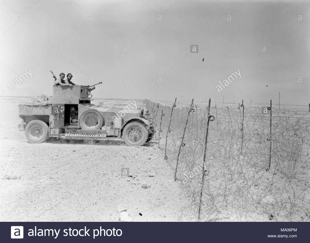 The British Army in North Africa 1940 A Rolls Royce armoured car ...