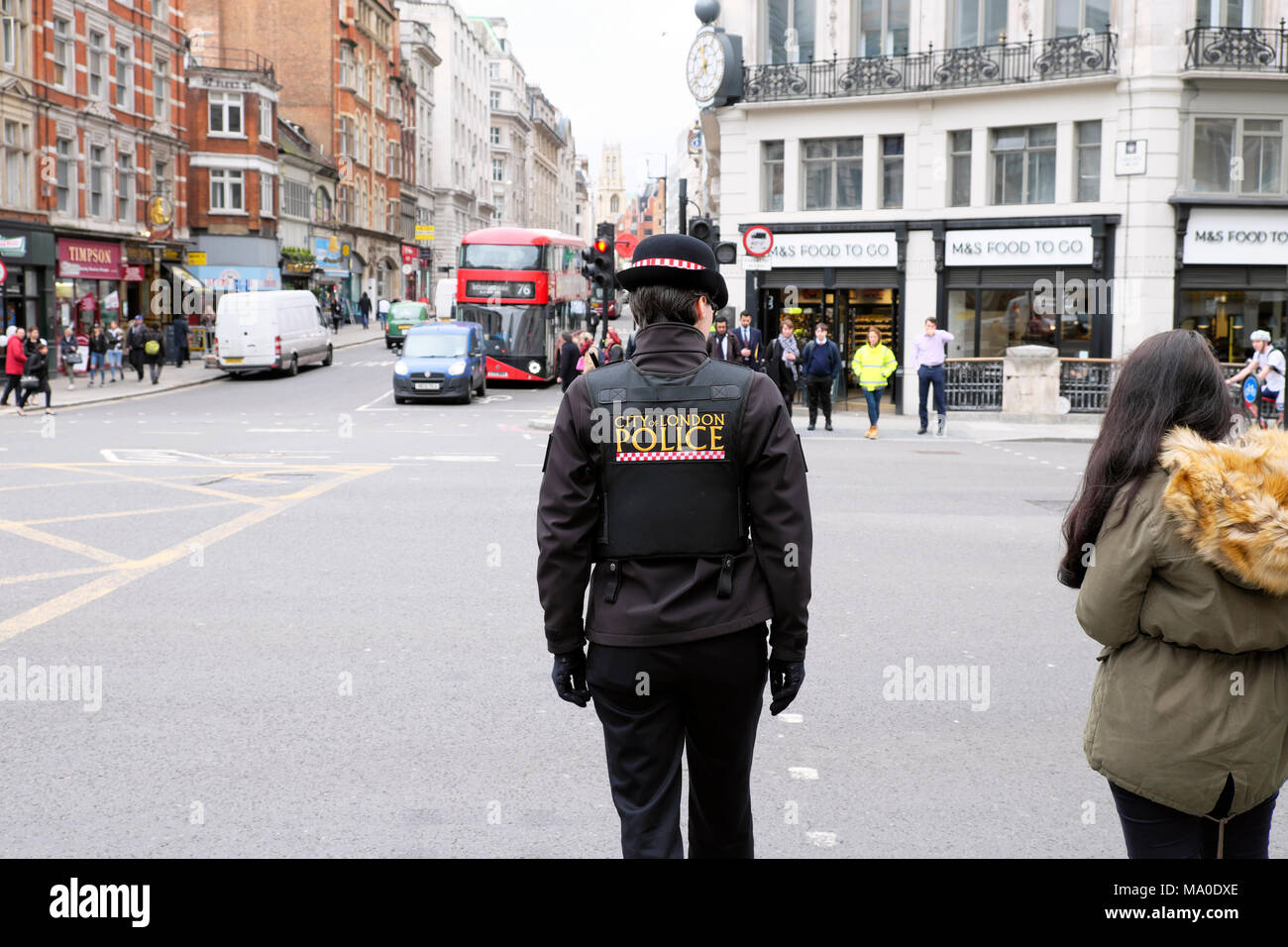 City of London Police on the street in Central London UK  KATHY DEWITT - Stock Image