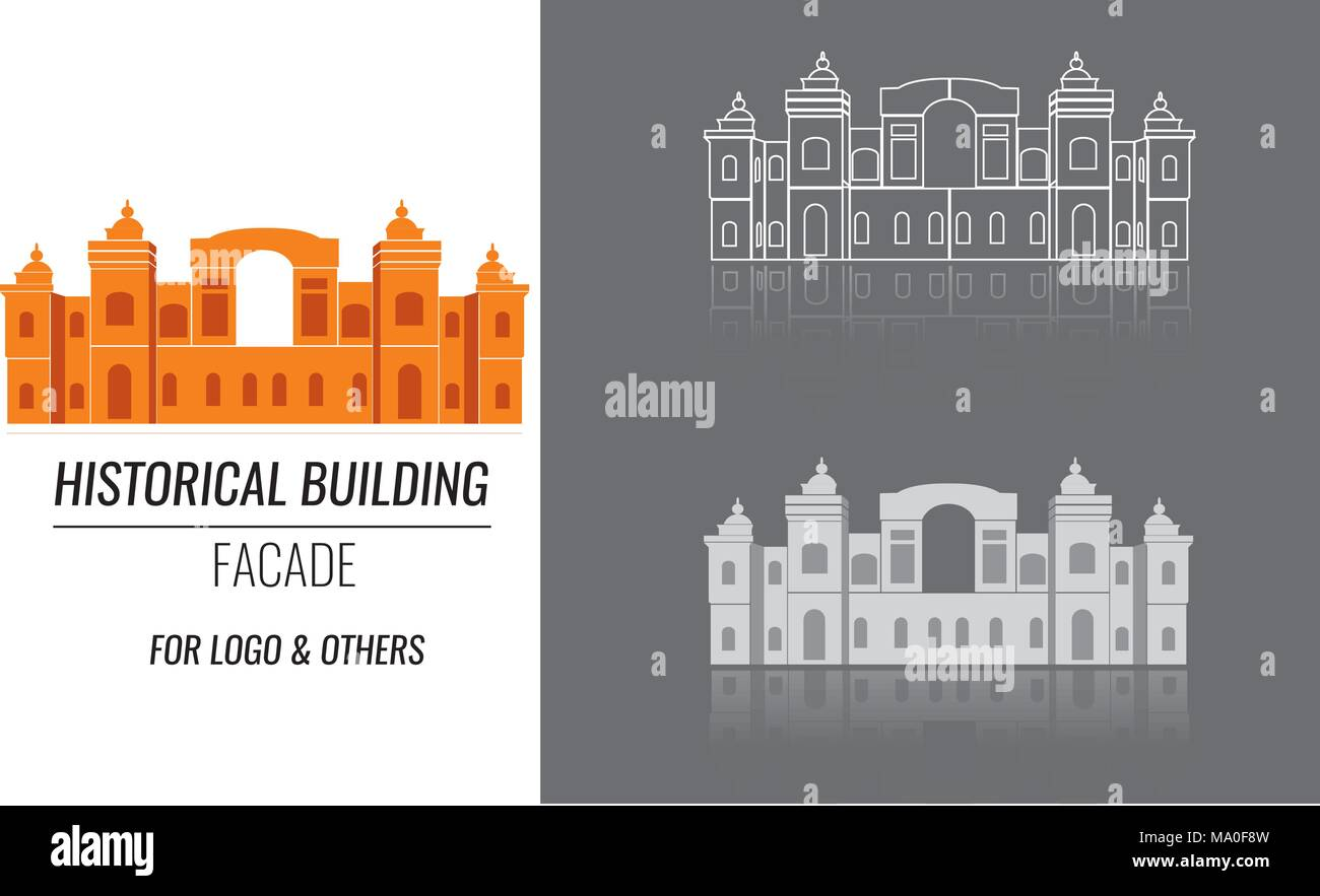 Classical building architecture made in vector. - Stock Vector