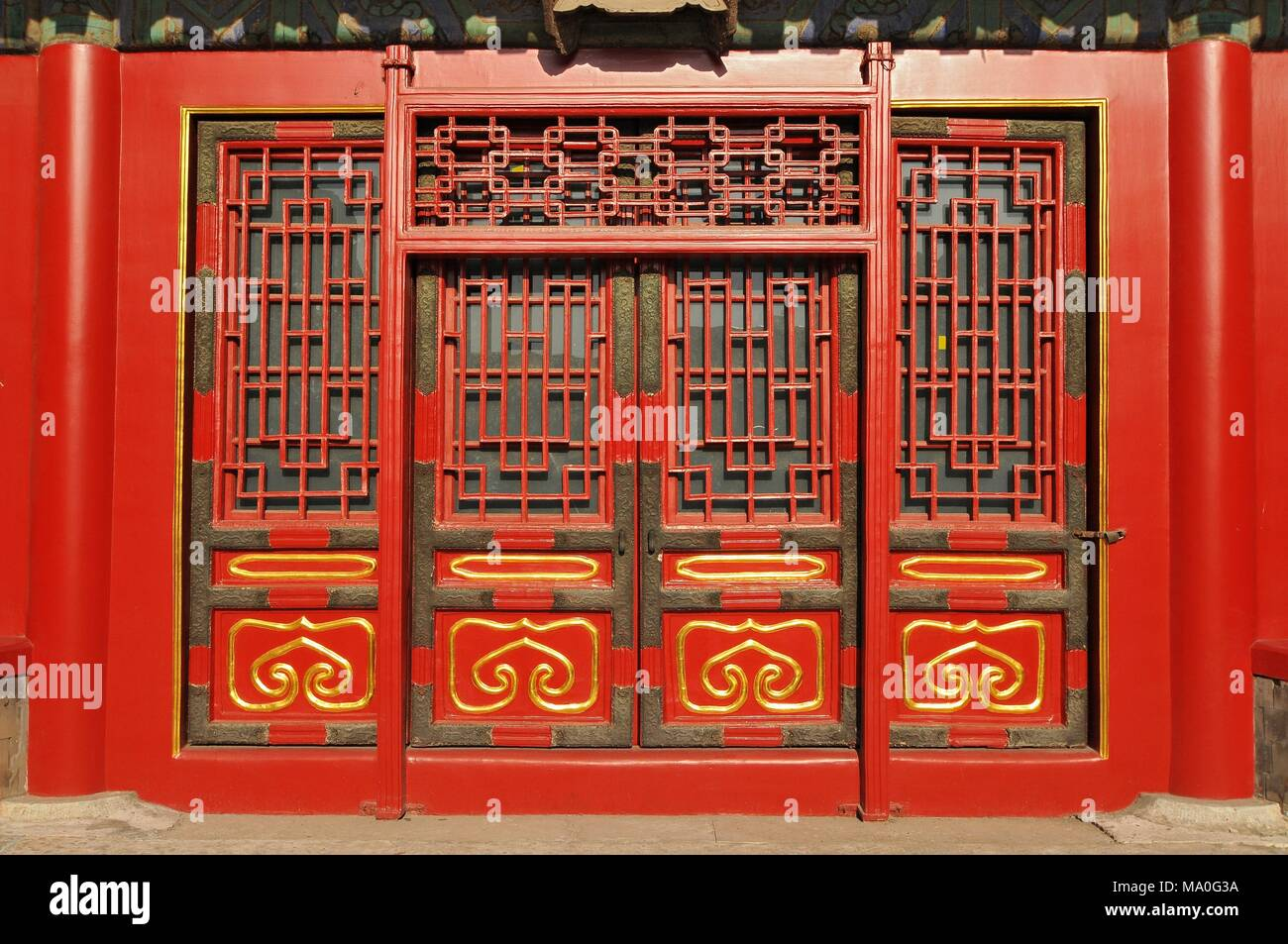 Traditional Chinese doors in The Palace Museum (Forbidden City) located in Beijing China.  sc 1 st  Alamy & Traditional Chinese doors in The Palace Museum (Forbidden City ...